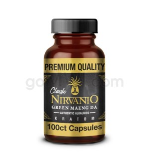 Nirvanio Kratom 500mg Maeng Da 100ct Bottle 100/cs