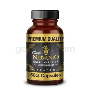Nirvanio Kratom 500mg Maeng Da 50ct Bottle 100/cs