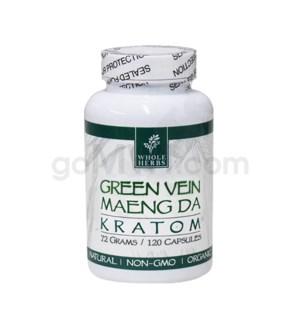 Whole Herbs Kratom - Green Maeng Da Capsules 120ct