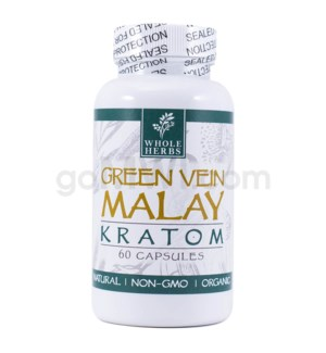 Whole Herbs Kratom - Green Vein Malay Capsules 60ct