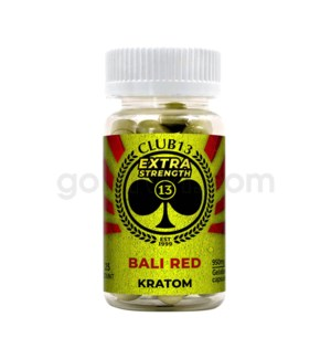 Club 13 Kratom - Bali Red Extra Strength 25CT
