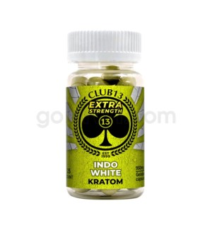 Club 13 Kratom - Indo White Extra Strength 25CT