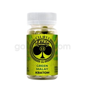 Club 13 Kratom - Green Malay Extra Strength 25CT