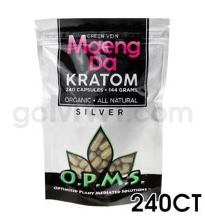 OPMS Kratom 144g Silver Maeng Da 240ct