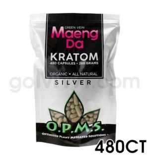 OPMS Kratom 288g Silver Maeng Da 480ct