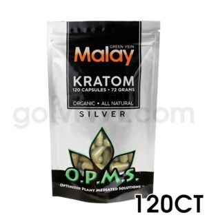 OPMS Kratom 60g Silver Malay 120ct