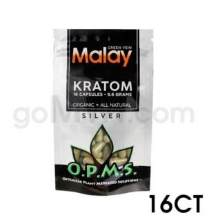OPMS Kratom 8g Silver Malay 16ct