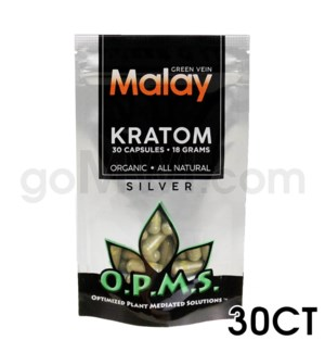 OPMS Kratom 15g Silver Malay 30ct