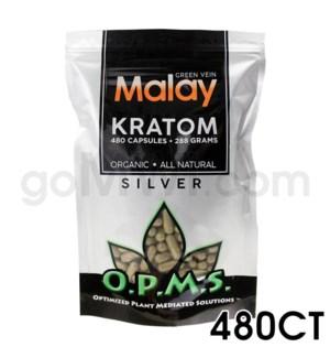 OPMS Kratom 288g Silver Malay 480ct