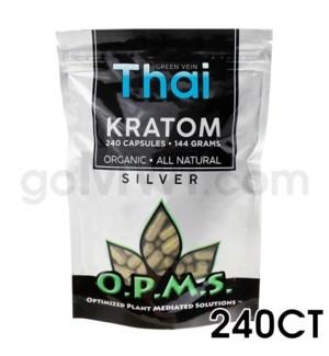 OPMS Kratom 144g Silver Thai 240ct
