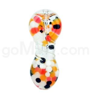 "I/O 4"" Liquid Filled and Jelly Handpipe w/carb Orange"