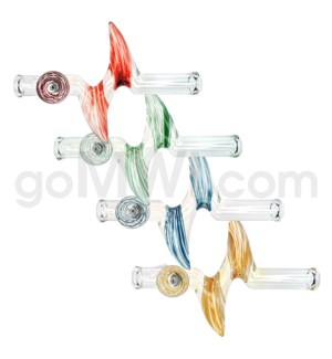 "DISC 11"" Steamroller Horn Zong w/Stripes in Asst. Colors"