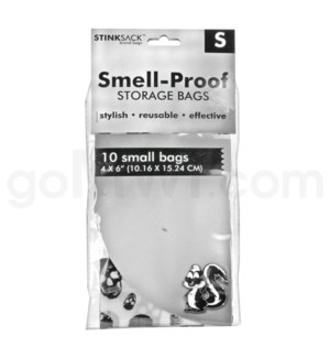 "DISC Stink Sack 4""X6"" 10Pk Skull Smell Proof Bags"