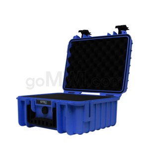 Str8 Case 13' with 3 Layer Pre-cut Foam - Cobalt Blue