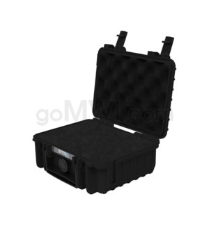 Str8 Case 8' with 2 Layer Pre-cut Foam - Onyx Black