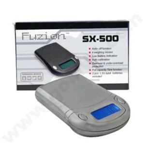 DISC Fuzion SX Black/Silver 500g x 0.1g  Scales