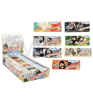"Cheech & Chong Unbleached 1.25"" Rolling Paper 50/pk 25ct/bx"