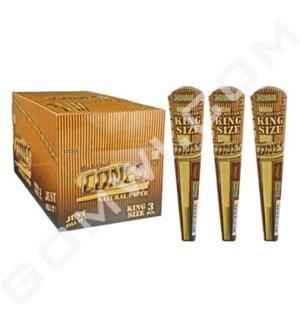 DISC Cones King unbleached 109mm 3PCS / 32BX