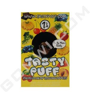 DISC Tasty Puff Hemp Rolling Paper 1.25 25 booklets
