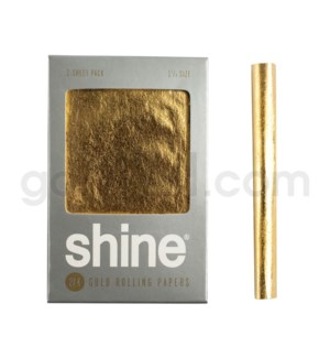 "Shine 24k Gold 1.25"" Rolling Papers 2pk"