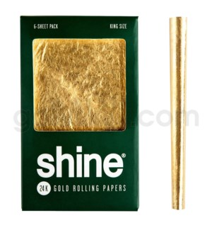 Shine 24K Gold King Size Papers 6pk