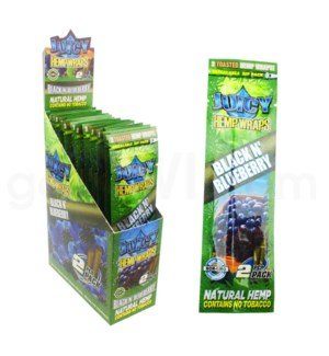 Juicy Hemp Wraps-Black n' Blueberry 2pk 25ct/bx