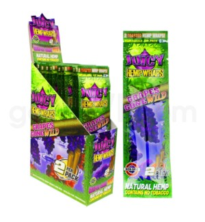 Juicy Hemp Wraps-Grapes Gone Wild 2pk 25ct/bx