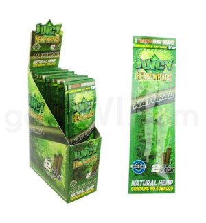 Juicy Hemp Wraps-Natural 2pk 25ct/bx