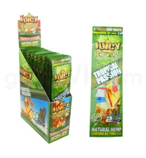 Juicy Hemp Wraps-Tropical Passion 2pk 25ct/bx