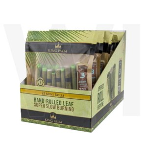 King Palm Mini Pre-Rolled Wraps 25/pk 8ct/bx