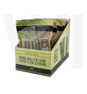 King Palm Slim Pre-Rolled Wraps 25/pk 8ct/bx