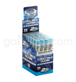 Cyclones Clear Pre-Rolled Cones- Ice Dream 2pk 24ct/bx
