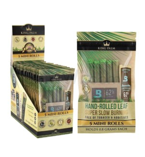 King Palm Mini Pre-Rolled Wraps 5/pk 15ct/bx