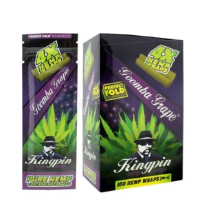 Kingpin Hemp Wraps - Goomba Grape 4pk 25ct/bx