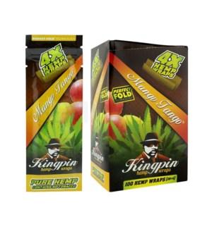 Kingpin Hemp Wraps - Mango Tango 4pk 25ct/bx