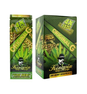 Kingpin Hemp Wraps - Original G 4pk 25ct/bx