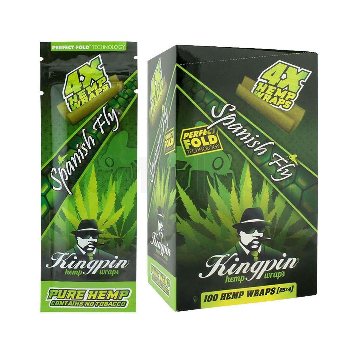 25PK DISPLAY Kingpin Hemp Wrap 4pc Original G
