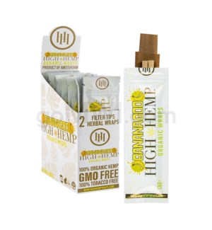 High Hemp Organic Wraps-Banana Goo  2pk 25ct/bx