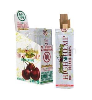 High Hemp Organic Wraps-Blazin' Cherry 2pk 25ct/bx