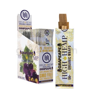 High Hemp Organic Wraps-Grapeape 2pk 25ct/bx