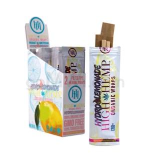 High Hemp Organic Wraps-Hydro Lemonade 2pk 25ct/bx