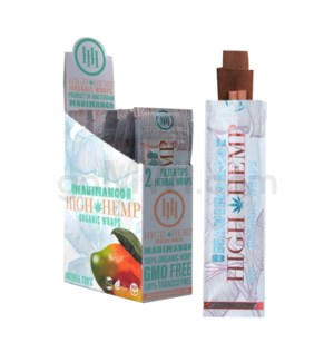 High Hemp Organic Wraps-Maui Mango  2pk 25ct/bx