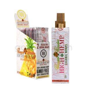 High Hemp Organic Wraps-Pineapple Paradise  2pk 25ct/bx