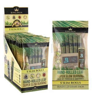 King Palm Herbal Organic Slim Pre-Rolled Wraps 5/pk 15ct/bx