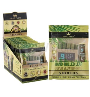 King Palm Herbal Organic Rollie Pre-Rolled Wraps 5/pk 15ct/bx