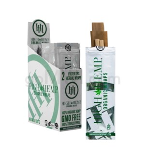 High Hemp Organic Wraps 2pk 25ct/bx