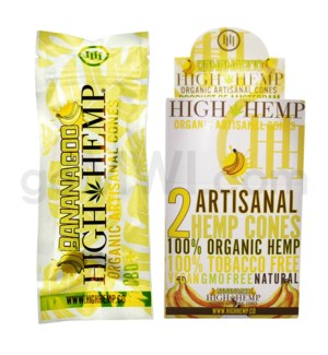 High Hemp Organic Cones - Banana Goo 2pk 15ct/bx
