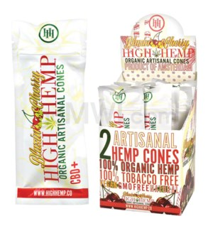 High Hemp Organic Cones - Blazing Cherry 2pk 15ct/bx