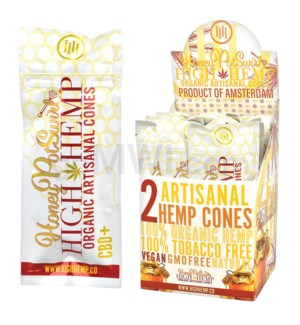 High Hemp Organic Cones - Honey Pot Swirl 2pk 15ct/bx