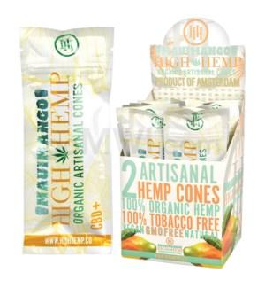 High Hemp Organic Cones - Maui Mango 2pk 15ct/bx